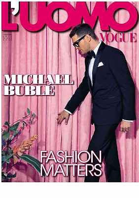 L' UOMO VOGUE Magazine February 2014 MICHAEL BUBLE Future YULIA Soko