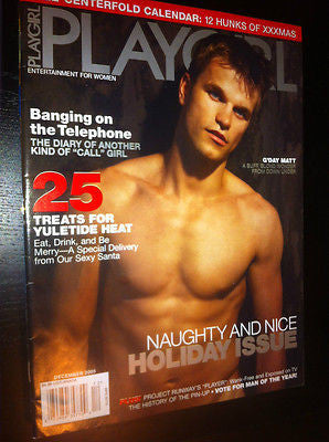 PLAYGIRL Magazine December 2005 Vic Ripper Nude QUINCY CROSS Gay Int