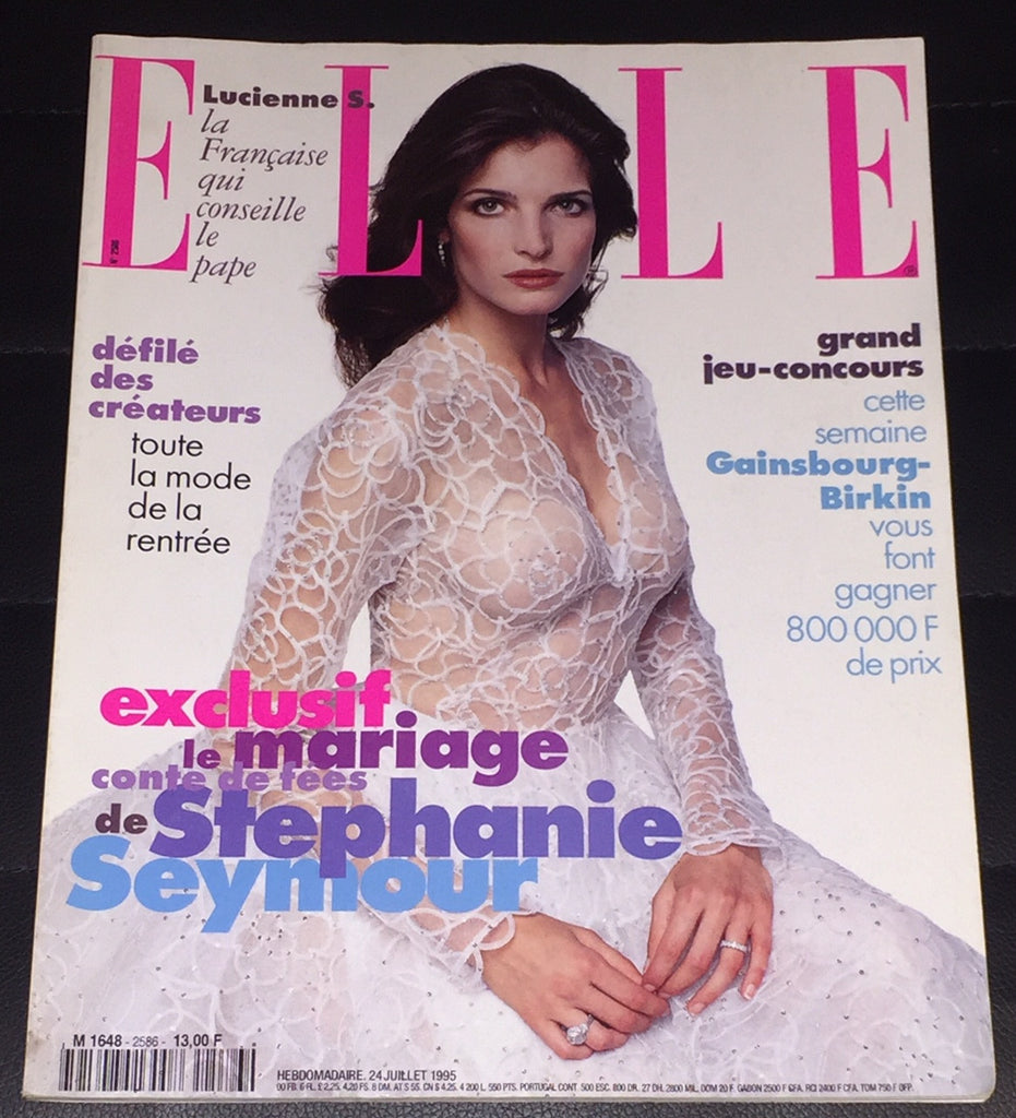 ELLE France Magazine July 1995 STEPHANIE SEYMOUR Carla Bruni JANE BIRKIN