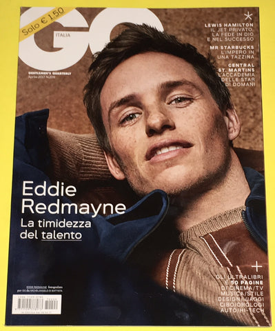GQ Italia Magazine April 2017 EDDIE REDMAYNE Lewis Hamilton CHARLIE FRANCE