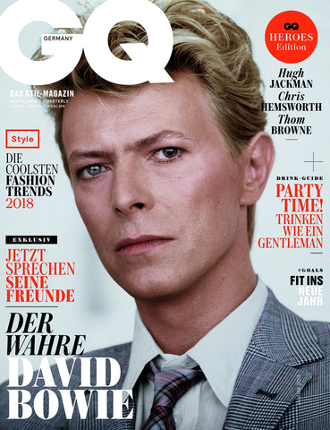 GQ Germany Magazine January 2018 DAVID BOWIE Chris Hemsworth LUCKY BLUE SMITH