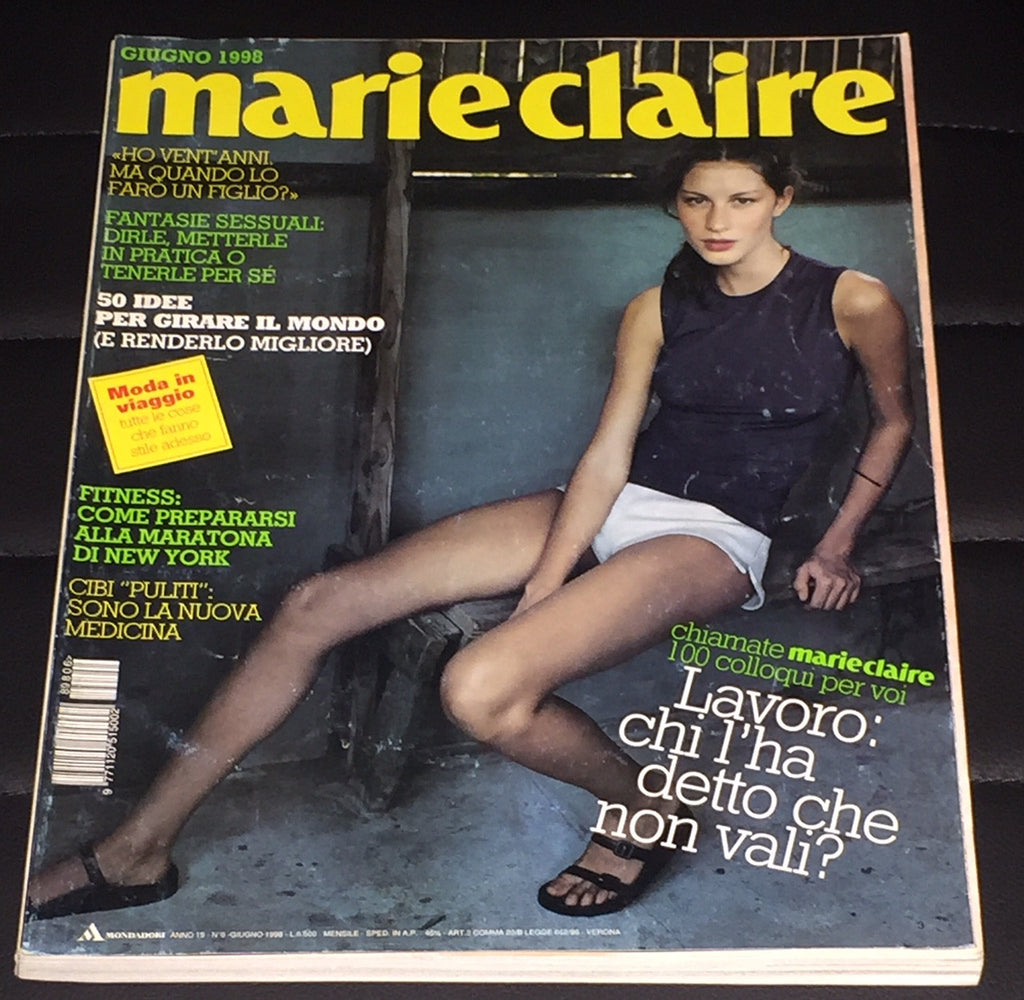 MARIE Claire Italia magazine June 1998 GISELE BUNDCHEN Courtney Love KELLY KLEIN