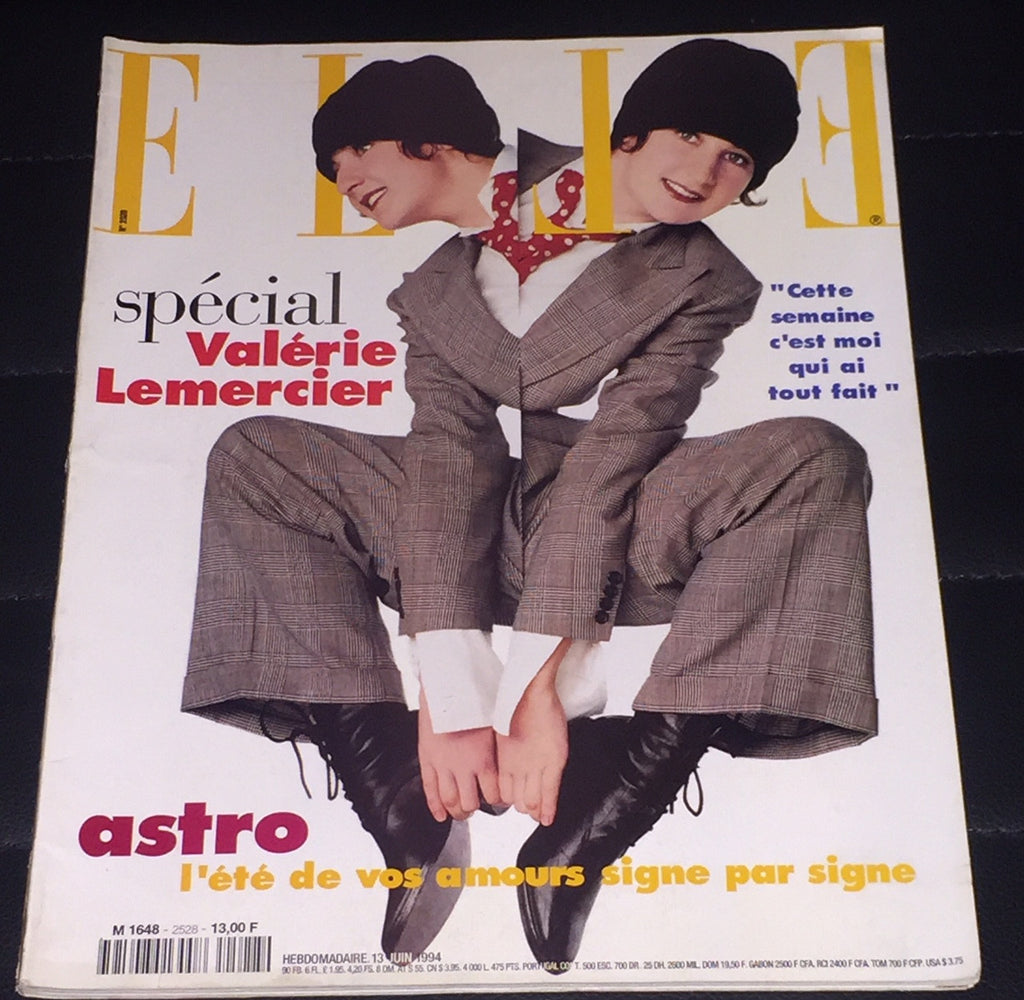 ELLE France Magazine June 1994 VALERIE LEMERCIER Daniela Pestova ROSEMARY McGROTHA