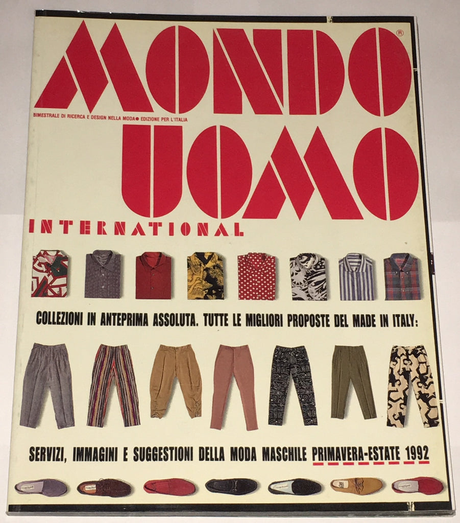 MONDO UOMO Magazine November 1991 HOYT RICHARDS Italian Fashion LIKE VOGUE