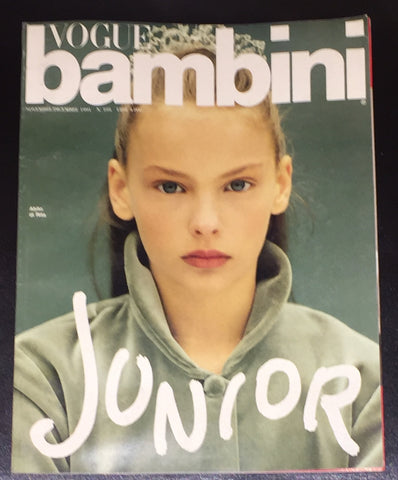 Vintage VOGUE BAMBINI Kids Children Enfant Fashion ITALIA Magazine December 1991