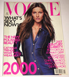 VOGUE UK Magazine January 2000 GISELE BUNDCHEN Shalom Harlow FRANKIE RAYDER