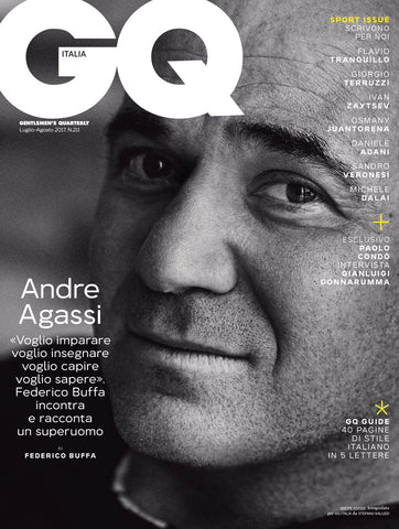 GQ ITALY Magazine July 2017 ANDRE AGASSI Arthur Gosse DONNARUMMA Thibaud Charon