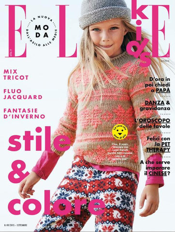 ELLE Kids BAMBINI Junior Children Enfant Ninos Fashion Magazine September 2015