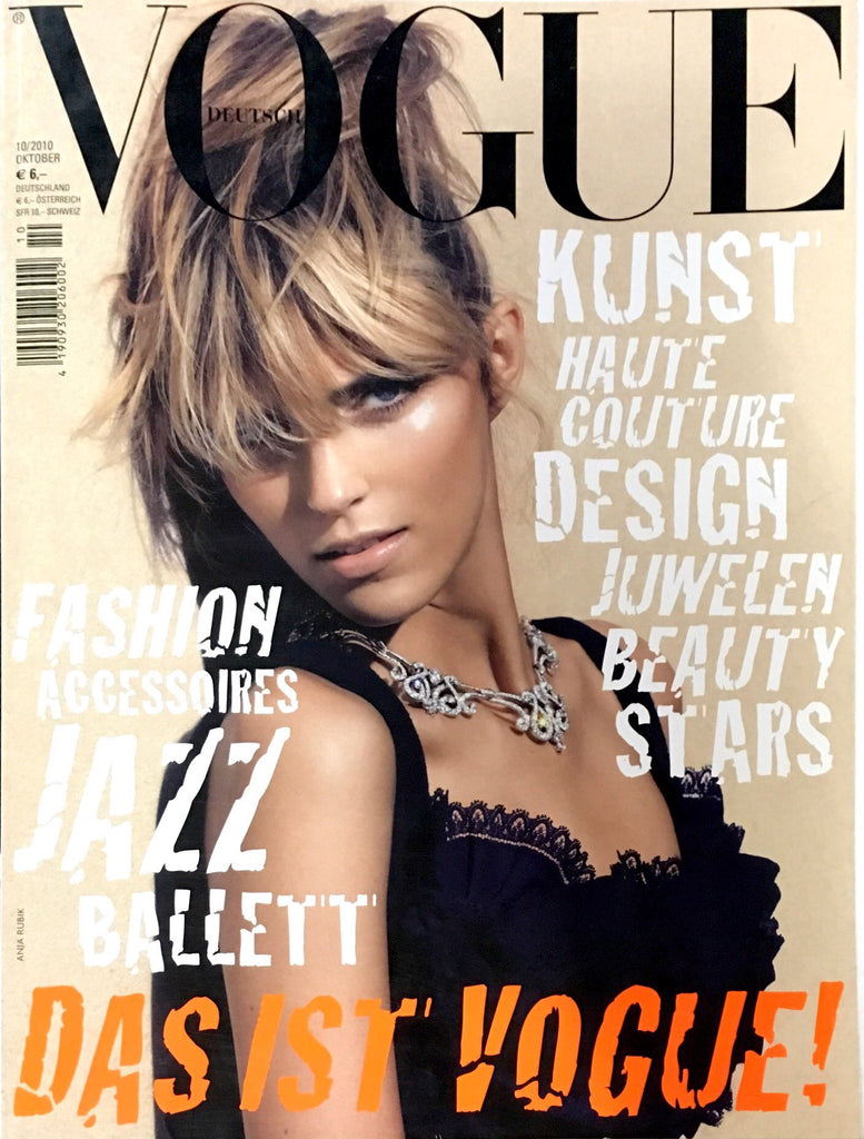 VOGUE Germany Magazine October 2010 ANJA RUBIK Bianca Balti SUVI KOPONEN
