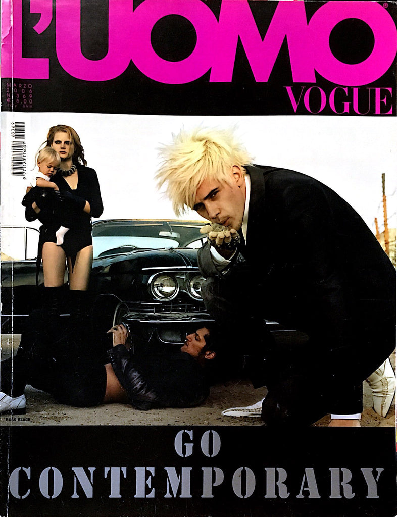 L'UOMO VOGUE Magazine March 2006 Jamie Dornan BRUCE WEBER Tony Ward GUINEVERE VAN SEENUS