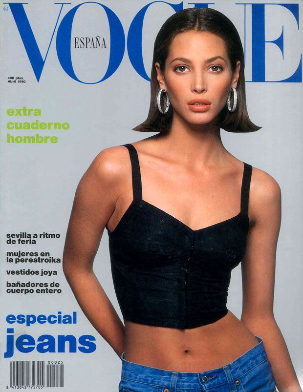 VOGUE Spain Magazine April 1990 CHRISTY TURLINGTON Ines Sastre KIRSTEN OWEN