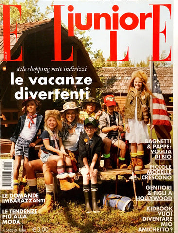 ELLE Junior Kids Bambini Children Enfant Ninos Fashion Magazine April 2010