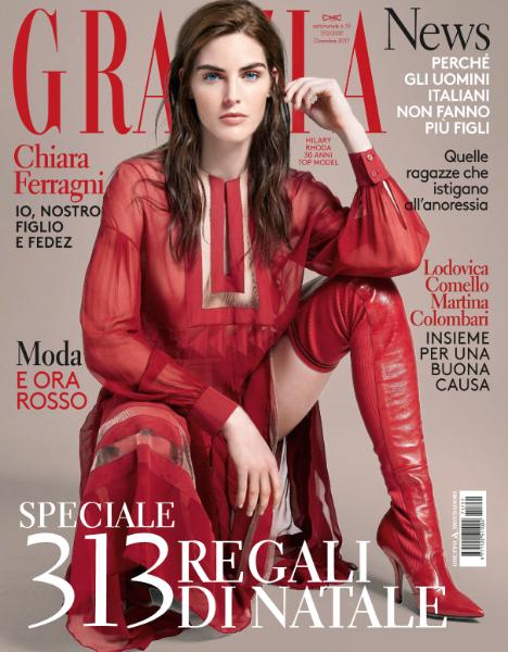 GRAZIA Italia Magazine December 2017 HILARY RHODA Margot Robbie KURT COBAIN