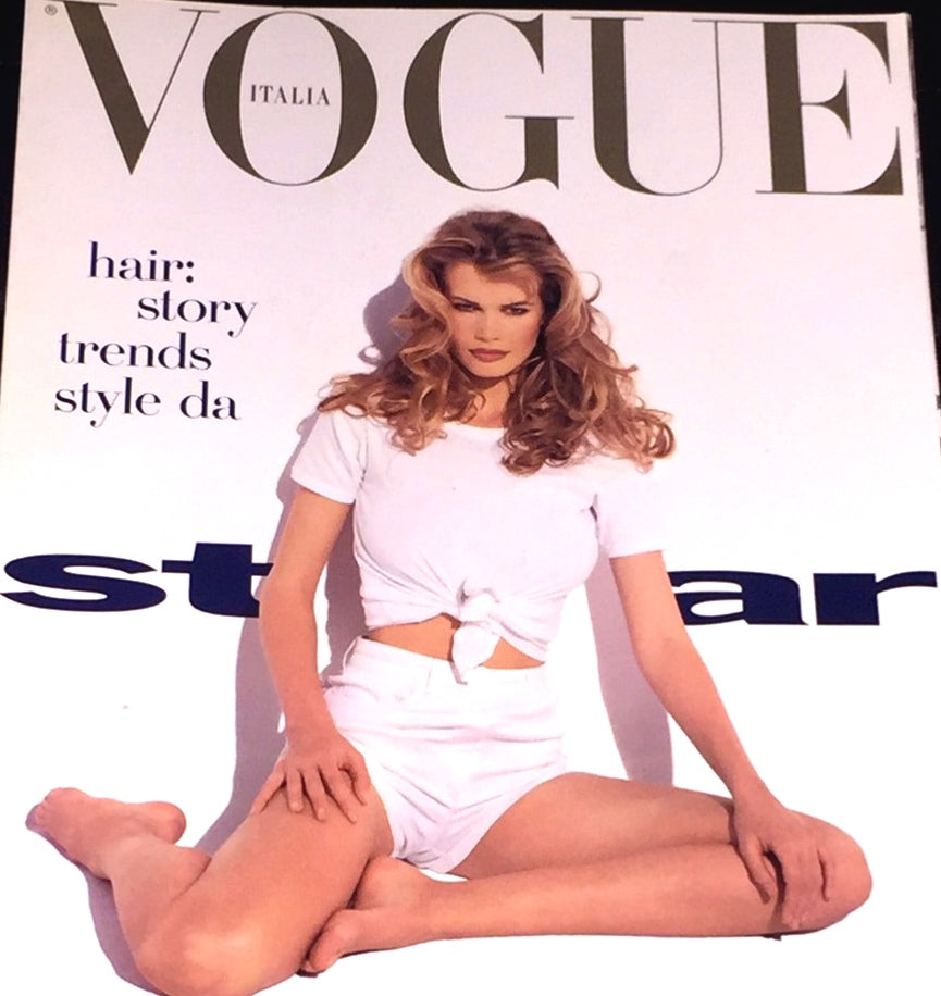VOGUE Italia HAIR Magazine CLAUDIA SCHIFFER Linda Evangelista April 1992