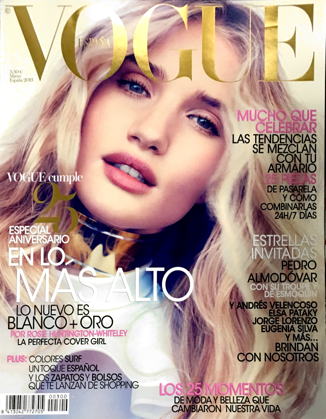 VOGUE Magazine Spain March 2013 Rosie Huntington Whiteley BO DON Anna Selezneva