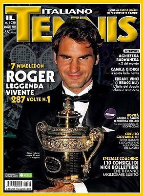Il Tennis Italiano Magazine August 2012 Roger Federer Wimbledon Collector's Issue