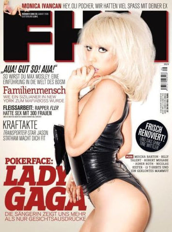 FHM German Magazine 2009 LADY GAGA POKERFACE Monica Invancan MISCHA BARTON