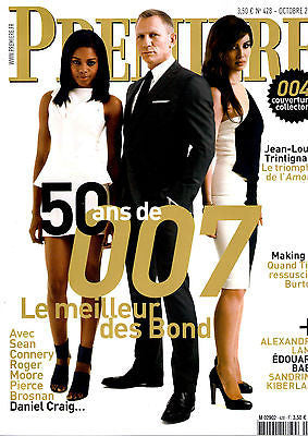 PREMIERE Magazine DANIEL CRAIG Sean Connery ROGER MOORE 50 years JAMES BOND 007