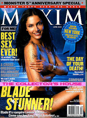 Maxim Us Magazine 2002 LEONOR VARELA  Laura Harring CHANDRA WEST