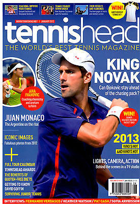Tennis Head Uk Magazine January 2013 NOVAK DJOKOVIC Ana Ivanovic