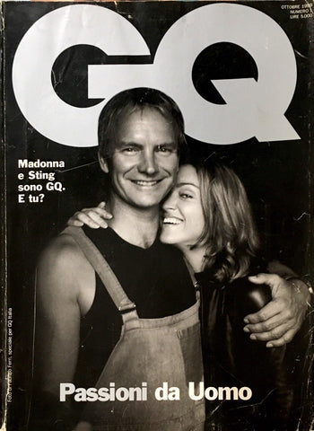 GQ Italia Magazine October 1999 MADONNA Madame X MDNA Sting