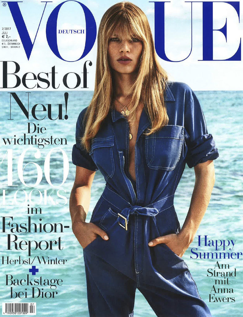 VOGUE Germany Magazine July 2017 ANNA EWERS Nimue Smit GIAMPAOLO SGURA Iggy Pop