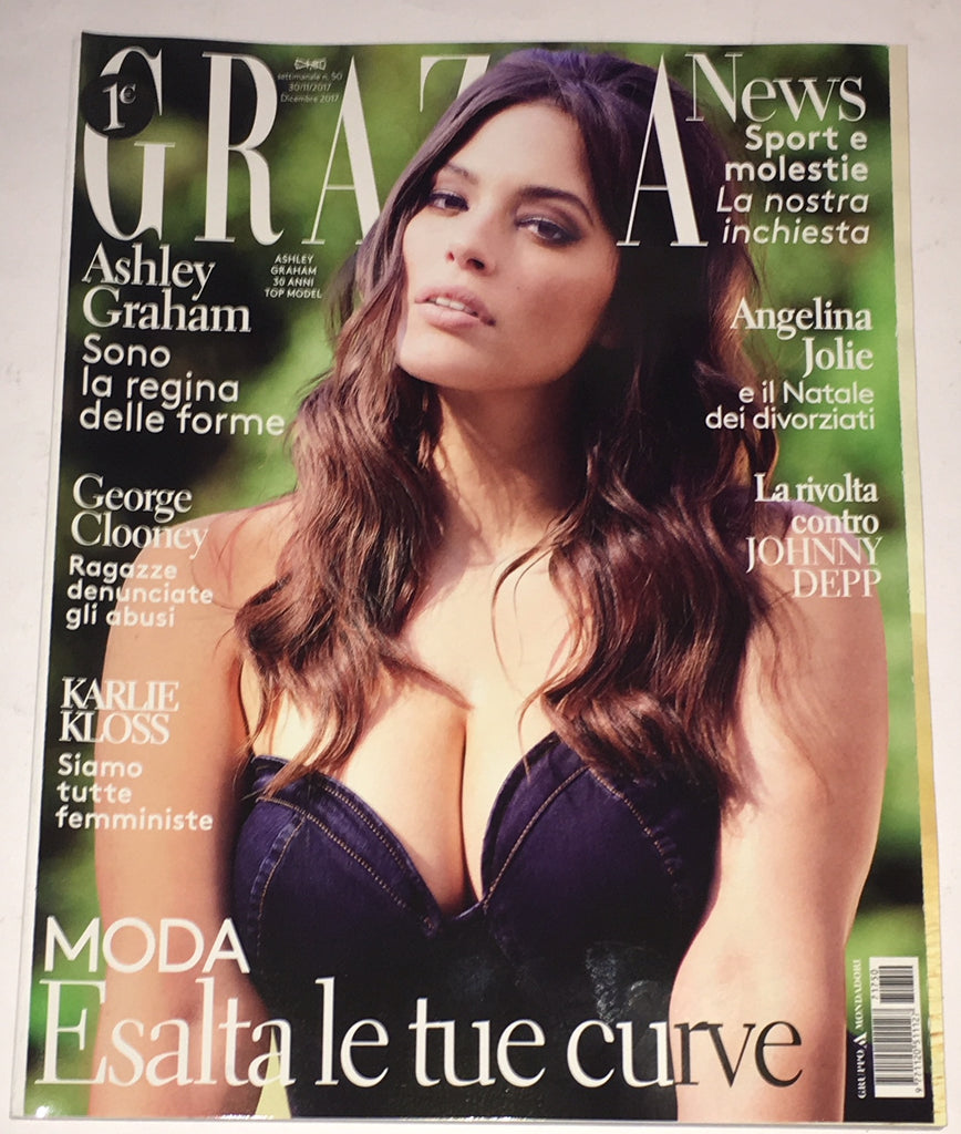 GRAZIA Italy Magazine December 2017 ASHLEY GRAHAM Karlie Kloss FRANZISKA STEGEMANN