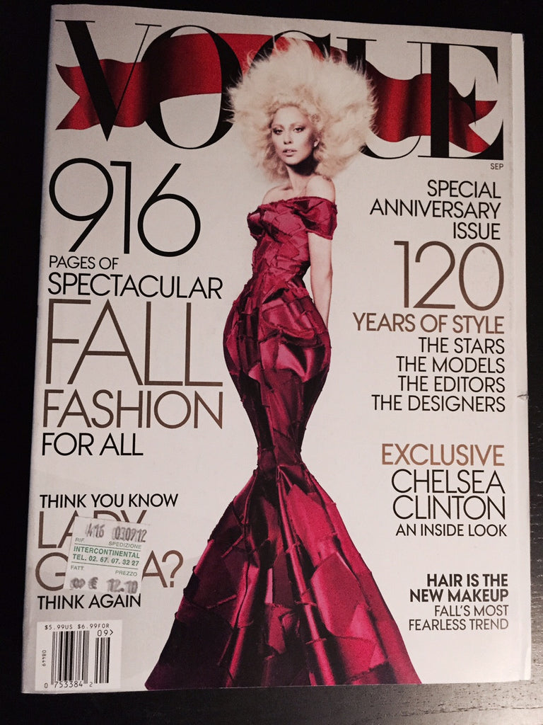 VOGUE US September 2012 ANNIVERSARY ISSUE LADY GAGA Karen Elson KARLIE KLOSS Natalia Vodianova