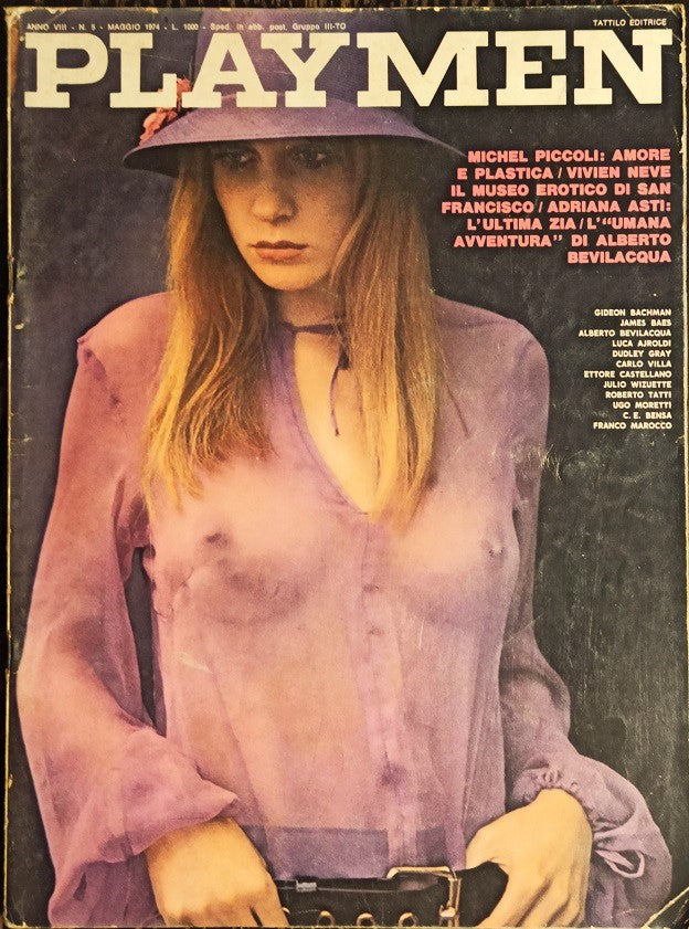 Playmen Magazine Italia May 1974 JAMES BAES Michel Piccoli VIVIEN NEVE