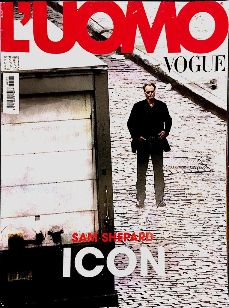 L'UOMO VOGUE Magazine September 2006 SAM SHEPARD Willem Dafoe MICKEY ROURKE Cuba Gooding