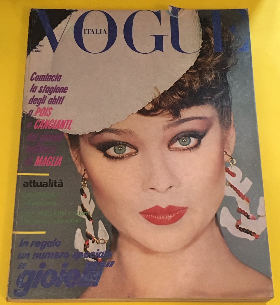 VOGUE Italia Magazine April 1979 LENA KANSBOD Susan Moncur DAVID BAILEY