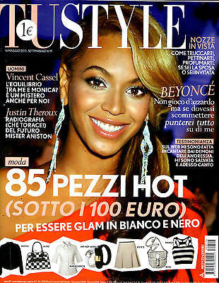 TU STYLE Magazine May 2013 BEYONCE Vincent Cassel LILY COLE Romina Power