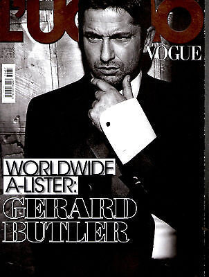 L'UOMO VOGUE Magazine January 2013 GERARD BUTLER Neymar JIM STURGESS