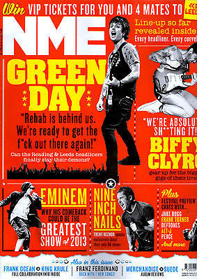 NME Magazine March 2013 GREEN DAY The Child Of Lov BIFFY CLYRO Nine Inch Nails EMINEM
