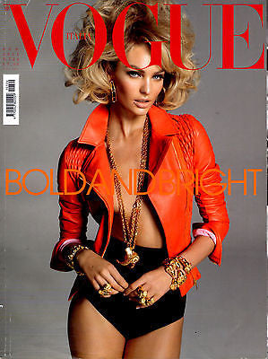 VOGUE ITALIA Magazine February 2011 CANDICE SWANEPOEL Victoria's Secret ADRIANA LIMA