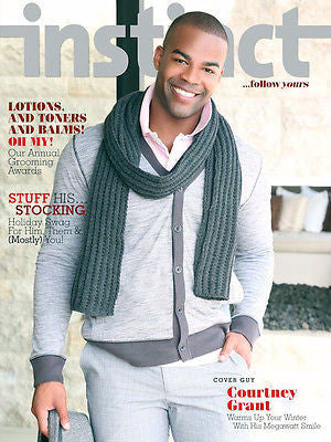 Instinct Magazine 2012 December COURTNEY GRANT Frenchie Davis CARSON KELLEY Gay Int