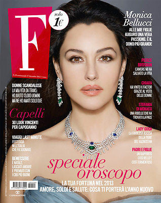 Fashion Italian Magazine MONICA BELLUCCI Pierce Brosnan LAUREN BACALL Stephanie di Monaco