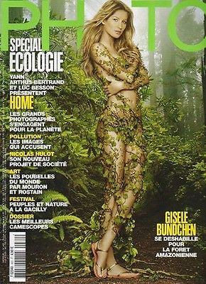 PHOTO PARIS magazine June 2009 Gisele Bundchen 8 pages pictorial