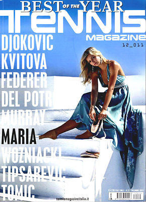 TENNIS Magazine Italia 2011 MARIA KIRILENKO Federer DJOKOVIC Murray DEL POTRO Williams