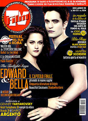 FILM TV Magazine November 2012 ROBERT PATTINSON Kristen Stewart TWILIGHT