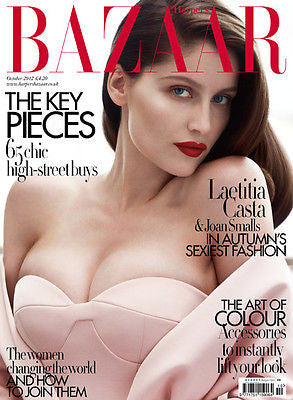 Harper's BAZAAR UK Magazine October 2012 LAETITIA CASTA Sara Blomqvist JOAN SMALLS
