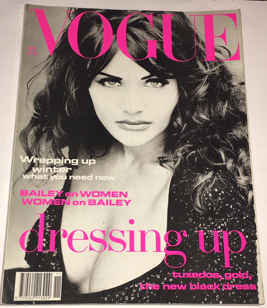 VOGUE UK Magazine November 1992 HELENA CHRISTENSEN Carre Otis IRENE PFEIFFER