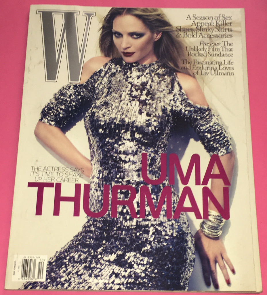 W Magazine October 2009 UMA THURMAN Raquel Zimmermann FREJA BEHA