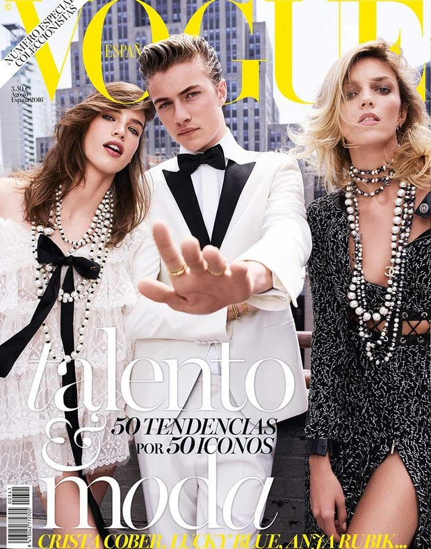 VOGUE Spain Magazine August 2016 LUCKY BLUE SMITH Anja Rubik ISABELI FONTANA