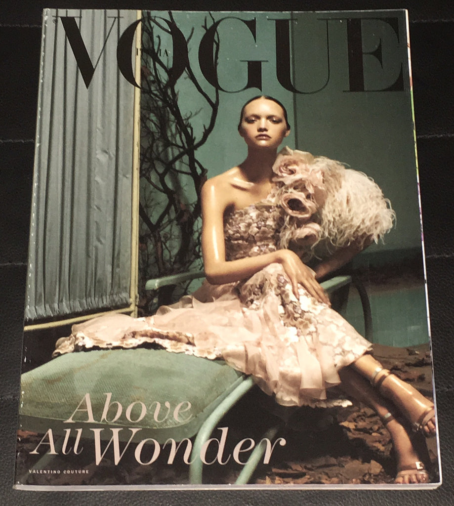 VOGUE Italia UNIQUE Magazine 2004 GEMMA WARD Helena Christensen NATALIA VODIANOVA
