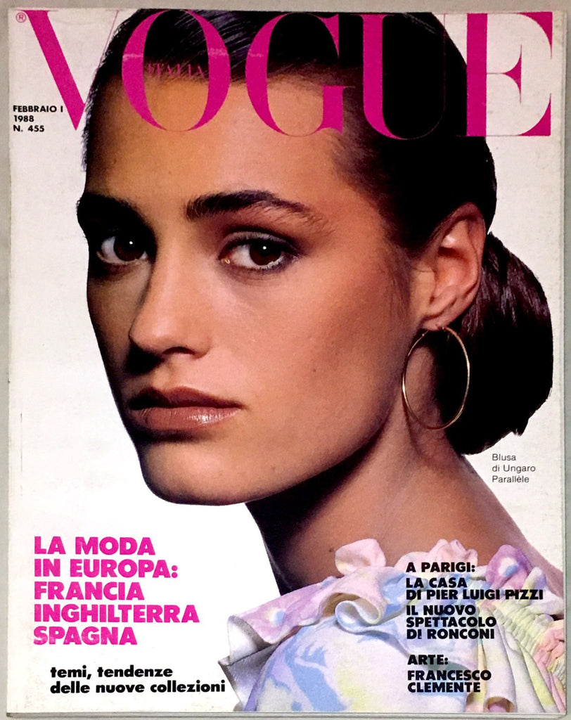 VOGUE Italia magazine February 1988 YASMIN LE BON Roberta Chirko CHRISTY TURLINGTON