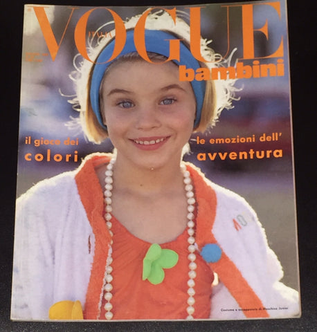 Vintage VOGUE BAMBINI Kids Children Enfant Fashion ITALIA Magazine May 1990