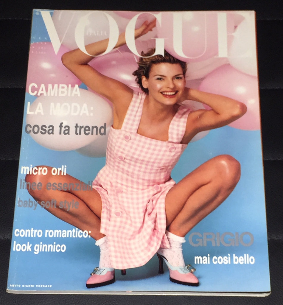 VOGUE Italia Magazine January 1994 LINDA EVANGELISTA Cindy Crawford NADJA AUERMANN