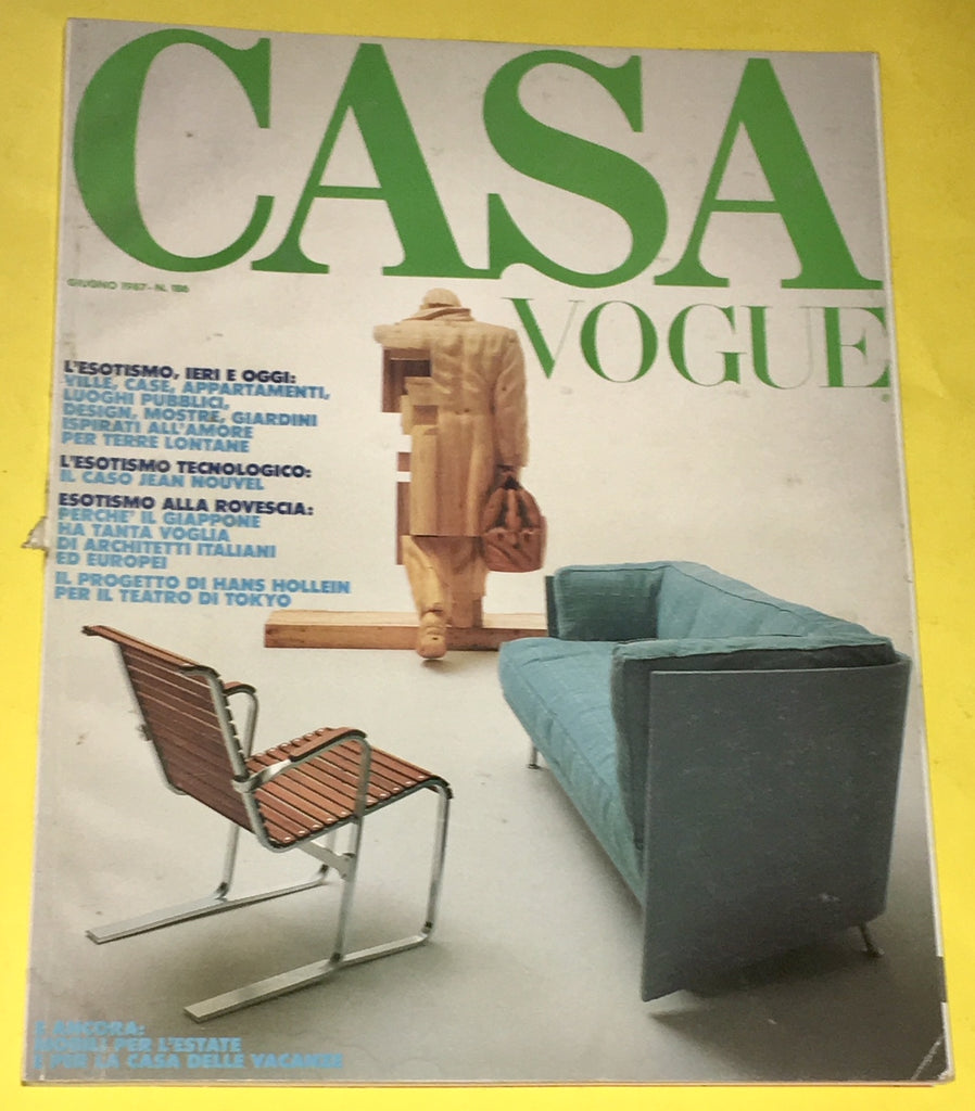 CASA VOGUE Magazine Italy June 1987 Issue #186 Vintage