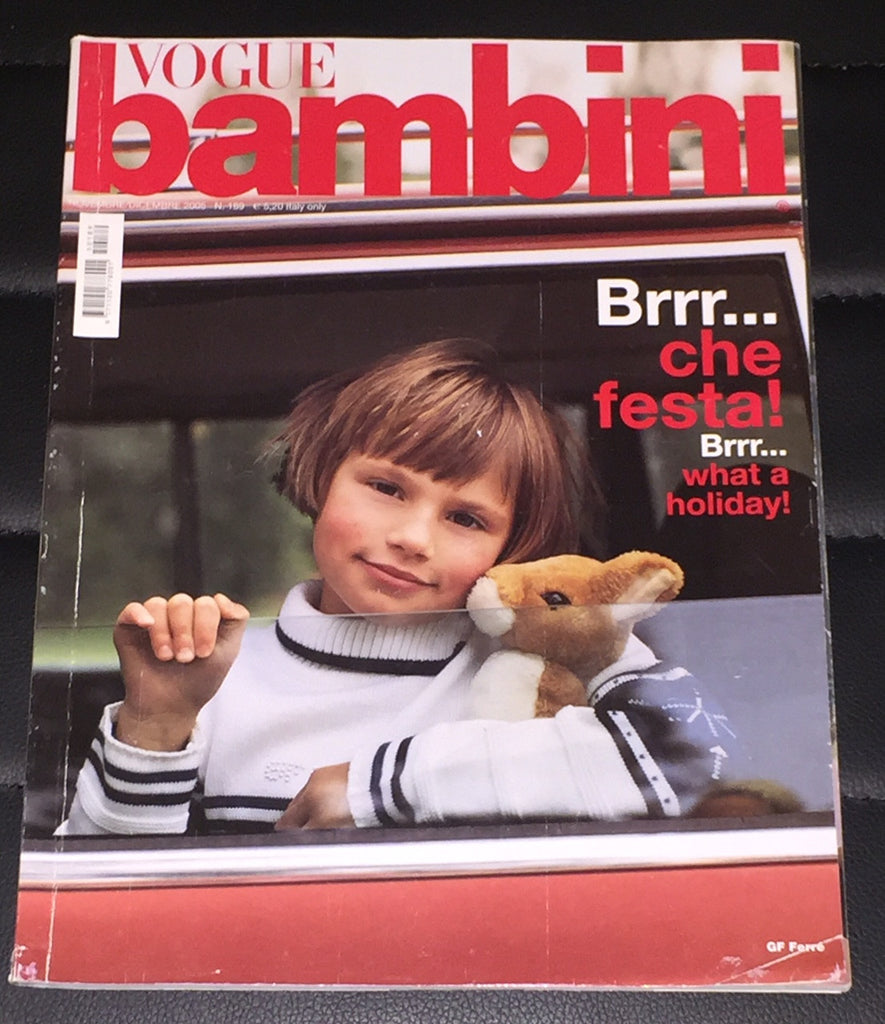 VOGUE BAMBINI Kids Children Enfant Fashion ITALIA Magazine November 2005